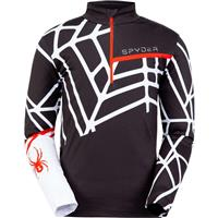 Spyder Vital Zip T Neck - Men's - Black White
