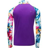 Spyder Surface Zip T-Neck - Girl's - Eureka Print