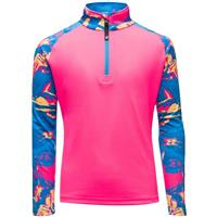 Spyder Surface Zip T-Neck - Girl's - Glacier Print