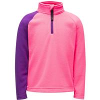 Spyder Speed Fleece Zip T-Neck - Youth Girl's - Bryte Bubblegum