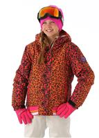 686 Authentic Prep Jacket - Girl's - Raspberry Leopard Lace