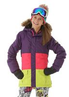 Violet Colorblock 686 Polly Insulated Jacket Girls