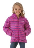 Columbia Dual Front Jacket - Girl's - Bright Plum Stripe