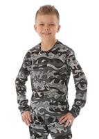 Hot Chillys Pepper Skins Print Crewneck - Boy's - Surf Night