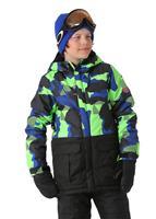 Mantis Green Geo Camo 686 Onyx Insulated Jacket Boys
