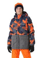 Orange Geo Camo 686 Onyx Insulated Jacket Boys