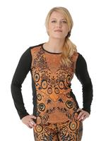 Flutter / Black Hot Chillys MTF Sublimated Print Scoop Neck Womens
