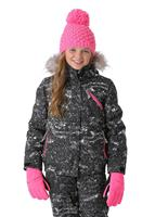 Spyder Lola Jacket - Girl's - Sequins Black Print / Bryte Bubblegum