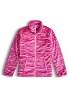 The North Face Osolita Jacket - Girl's - Roxbury Pink Wavy Stripe