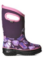 Purple Multi Bogs Classic Owl Boots Youth