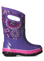 Purple Multi Bogs Classic Pansies Boots Youth