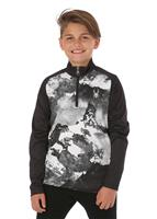 Spyder Limitless 1/4 Zip T-Neck - Boy's - Black / Mountains