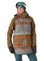 Hawk Tusk Stripe / Hickory Burton Prowess Jacket Womens