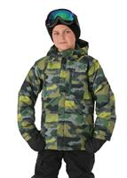 Columbia Lightning Lift Jacket - Boy's - Forest Blocks