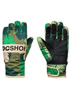 DC Franchise Glove - Boy's - Chive Leaf Camo Youth