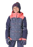 Roxy Sassy Jacket - Girl's - Crown Blue / Indie Stripes