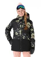 Roxy Torah Bright Snowflake Jacket - Women's - True Black / Torah'S Roses