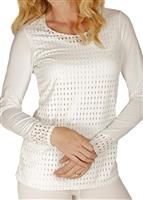 Snow Angel Peek Overlay Scoop - Women's