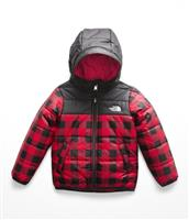 TNF Red Buffalo Check Print The North Face Toddler Reversible Perrito Jacket Boys
