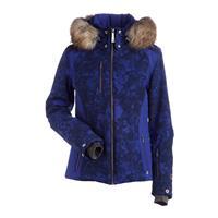 Indigo Winter Winds Print / Indigo Nils Josie Real Fur Jacket Womens