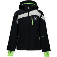 Black / Cirrus / Bryte Green Spyder Rival Jacket Boys