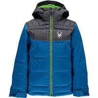 Concept Blue / Herringbone / Bryte Green Sypder Clutch Down Jacket Boys