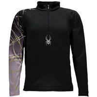 Black / White Spyder Linear Web Dry Web T Neck Boys