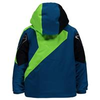 Concept Blue / Bryte Green / Black Spyder Mini Leader Jacket Boys
