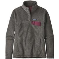 Patagonia Re-Tool Snap-T Pullover - Women's - Feather Grey / Ink Black X-Dye w/ Light Balsamic