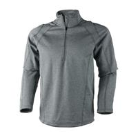 Heather Grey Obermeyer Marathon Elite 150wt Zip Mens
