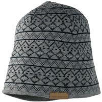 Light Heather Grey Obermeyer Mountain Knit Hat Mens