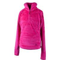 Electric Pink Obermeyer Furry Fleece Top Girls