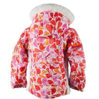 Heart Gingham Obermeyer Snowdrop Jacket with Fur Girls