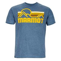 Navy Heather Marmot Coastal Tee SS Mens