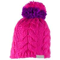 Electric Pink Obermeyer Livy Knit Hat Girls