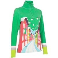 Green Print Neve Kitzbuhel 1/4 Zip Knit Womens