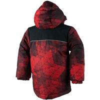 Red Mesh Print Obermeyer Stealth Jacket Boys