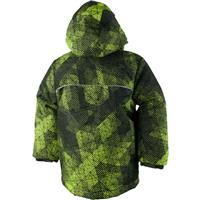 Green Mesh Print Obermeyer Stealth Jacket Boys