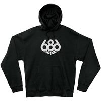 Black 686 Wreath Pullover Hoodie Mens