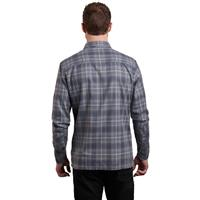 Kuhl Dillingr Flannel LS Shirt - Men's - Cobblestone Gray
