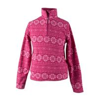 Pink Snowflake Obermeyer Bomber Pro 100wt Zip Top Youth