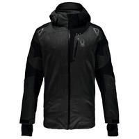 Polar Crosshatch / Black / Polar Crosshatch Spyder Leader Jacket Mens