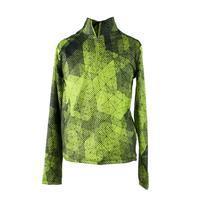 Green Mesh Print Obermeyer Wildcat Sport 75wt Zip Top Youth