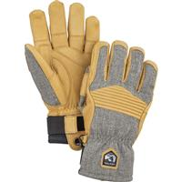 Hestra Army Leather Couloir Glove - Lt Grey / Tan
