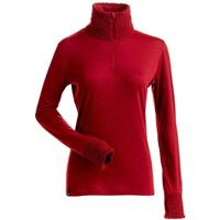 Nils Holly 1/4 Zip T-Neck - Women's - Ruby