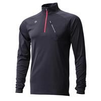 Descente Gavin 1/4 Zip Top - Men's - Black / Electric Red