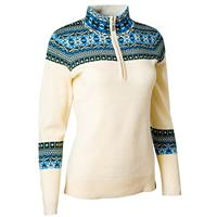 Winter White Neve Caroline 1/4 Zip Sweater Womens