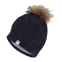Dark Night Descente Lola Fur Pom Hat Womens