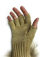 Gold Mitchies Matchings Knit Texting Glove Womens palm