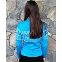 Newland Norwegian Placed Design Sweater - Women's - Bright Blue / White